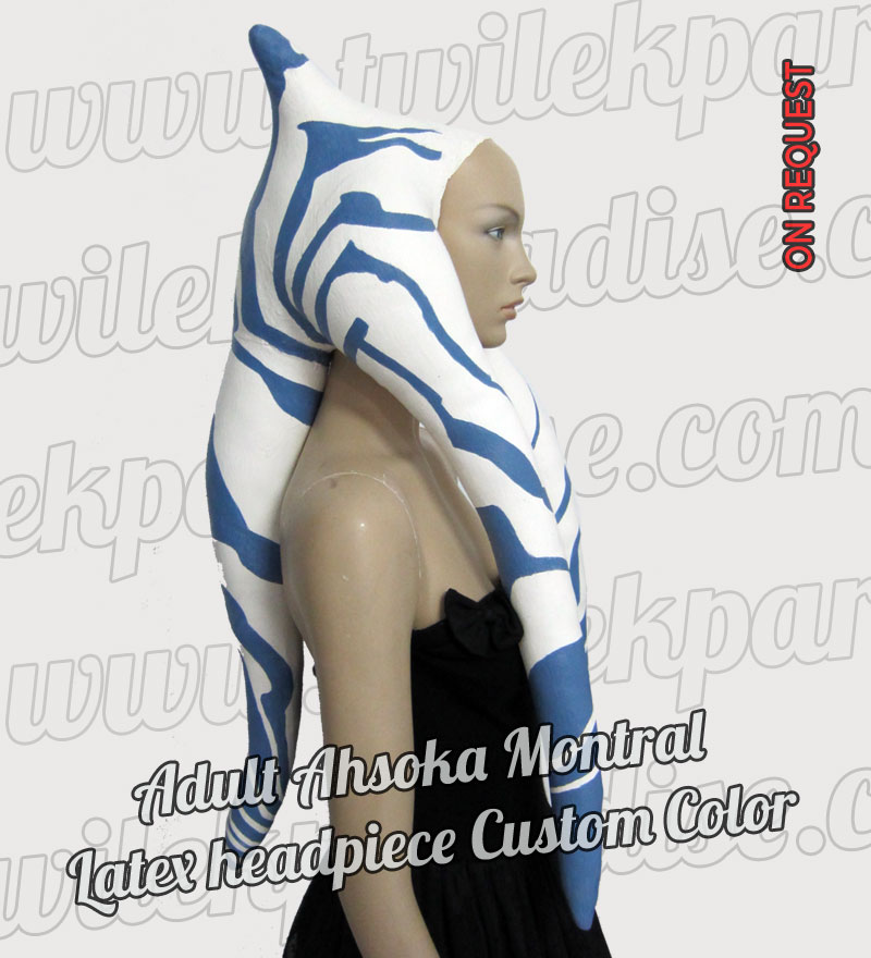 Adult Ahsoka Montral Latex Headpiece1