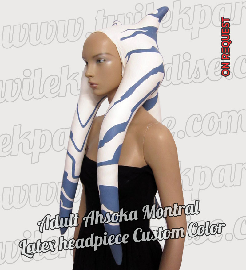 Adult Ahsoka Montral Latex Headpiece6