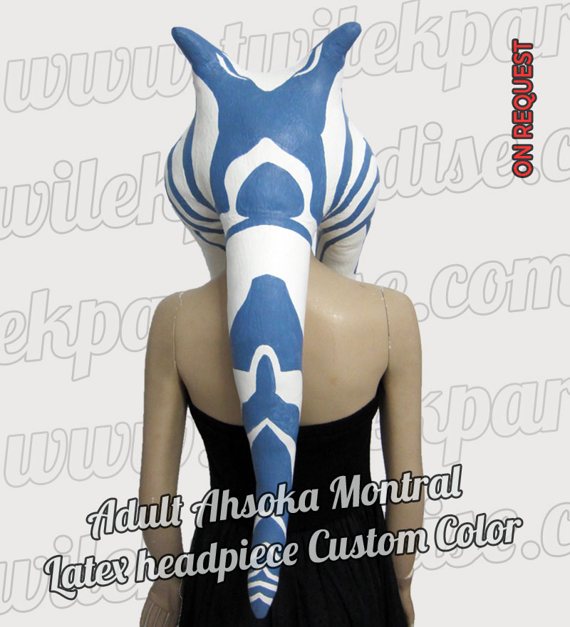Adult Ahsoka Montral Latex Headpiece8