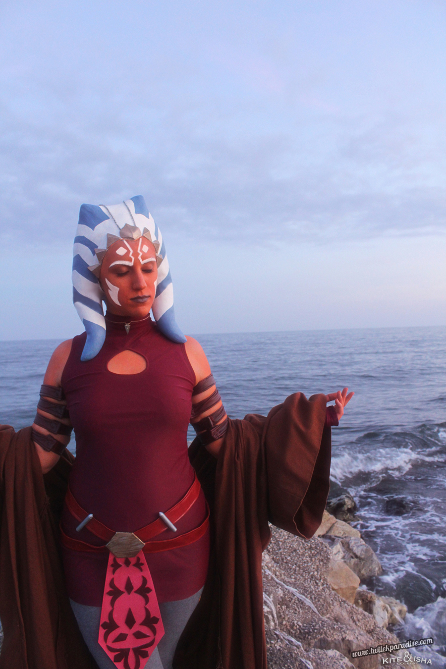 Ahsoka Tano Clone Wars Togruta Latex Headpiece