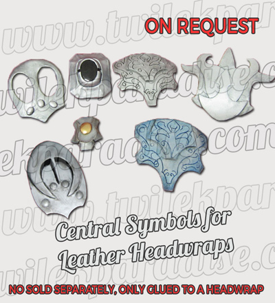 Central Symbols For Leather Headwraps