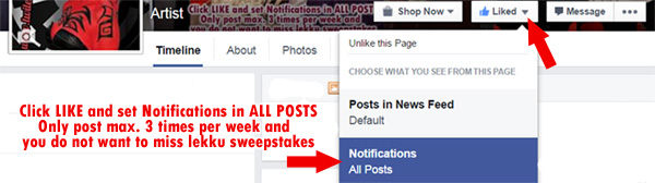 LIKE us in Facebook and activate ALL NOTIFICATIONS for NEWS